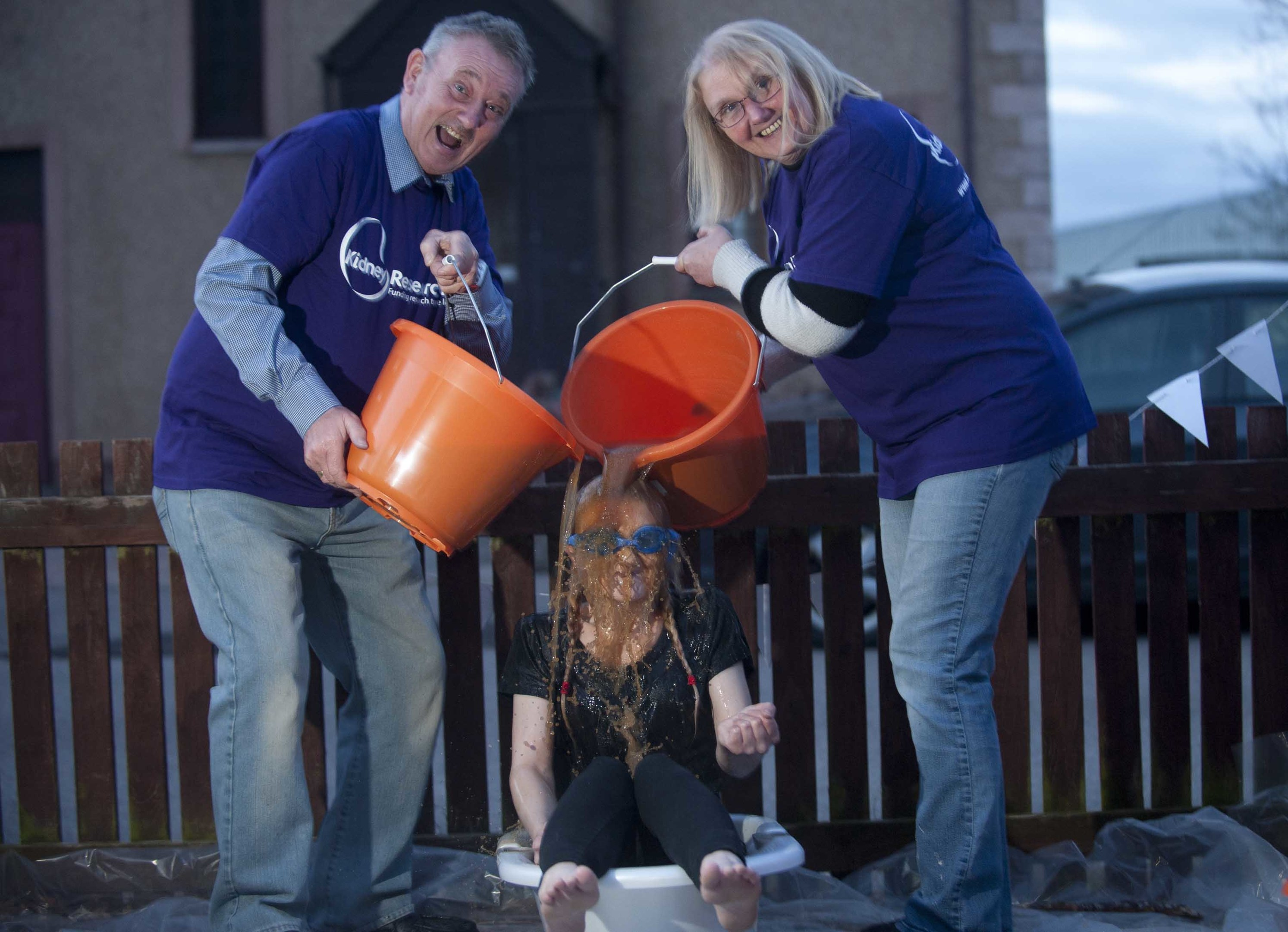Stacy Grant has attempted to overcome her fear of gravy with dad Robert and mum Patsy.