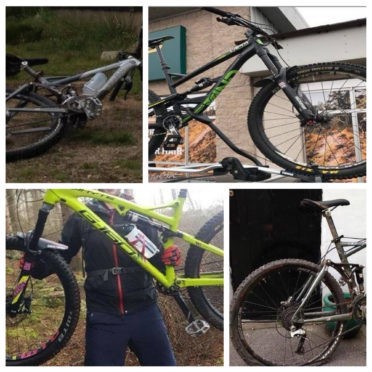 Four of the stolen bikes