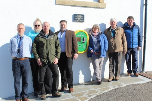 Harbour Operations Manager, Duncan Brown; Community Council members Les Taylor and Chris Tuke; Cllr Ryan Edwards; Community Council members Joan Megson, Gilbert Farquhar and Bill Davidson.
