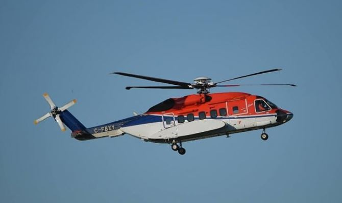 A Sikorsky S-92 helicopter.