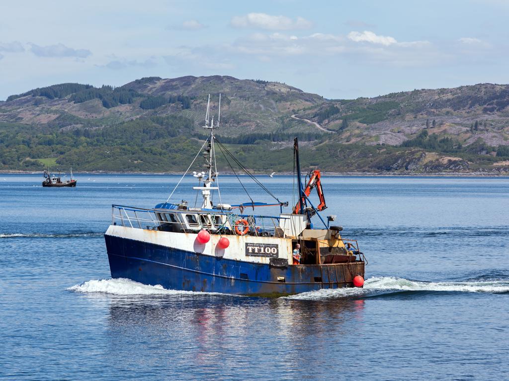 Fishing boat Nancy Glen sank in Loch Fyne, Argyll.