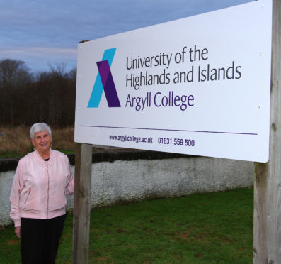 Marri Malloy, Chair of Oban Community Council at Argyll College UHI part of the University of the Highlands and Islands.