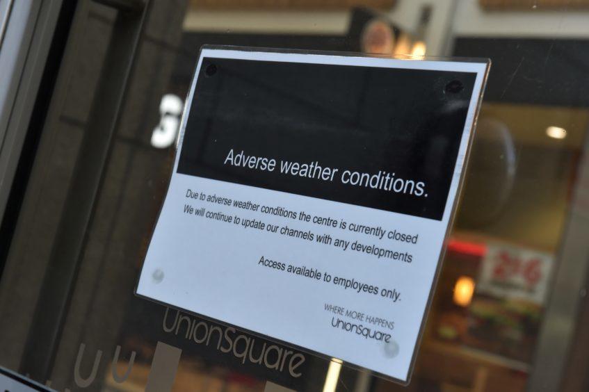 Union Square in Aberdeen is in lockdown.
