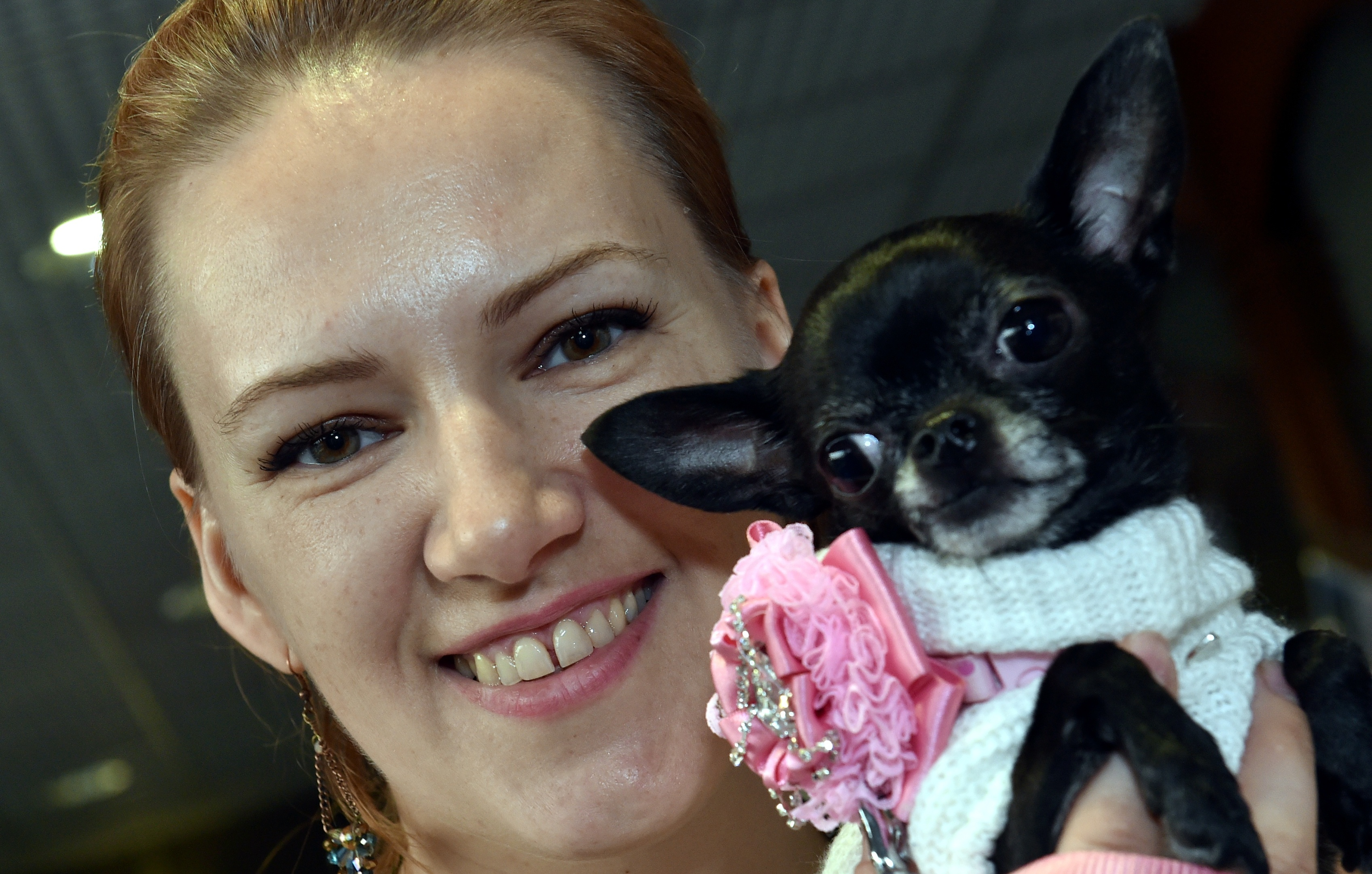 NORTH EAST PET EXPO 2018 The biggest Pet Fair to hit the North East of Scotland came to Thainstone Centre on Saturday. Natalija Janse Van Vuuren with Lilly. Picture by COLIN RENNIE   March 17, 2018.