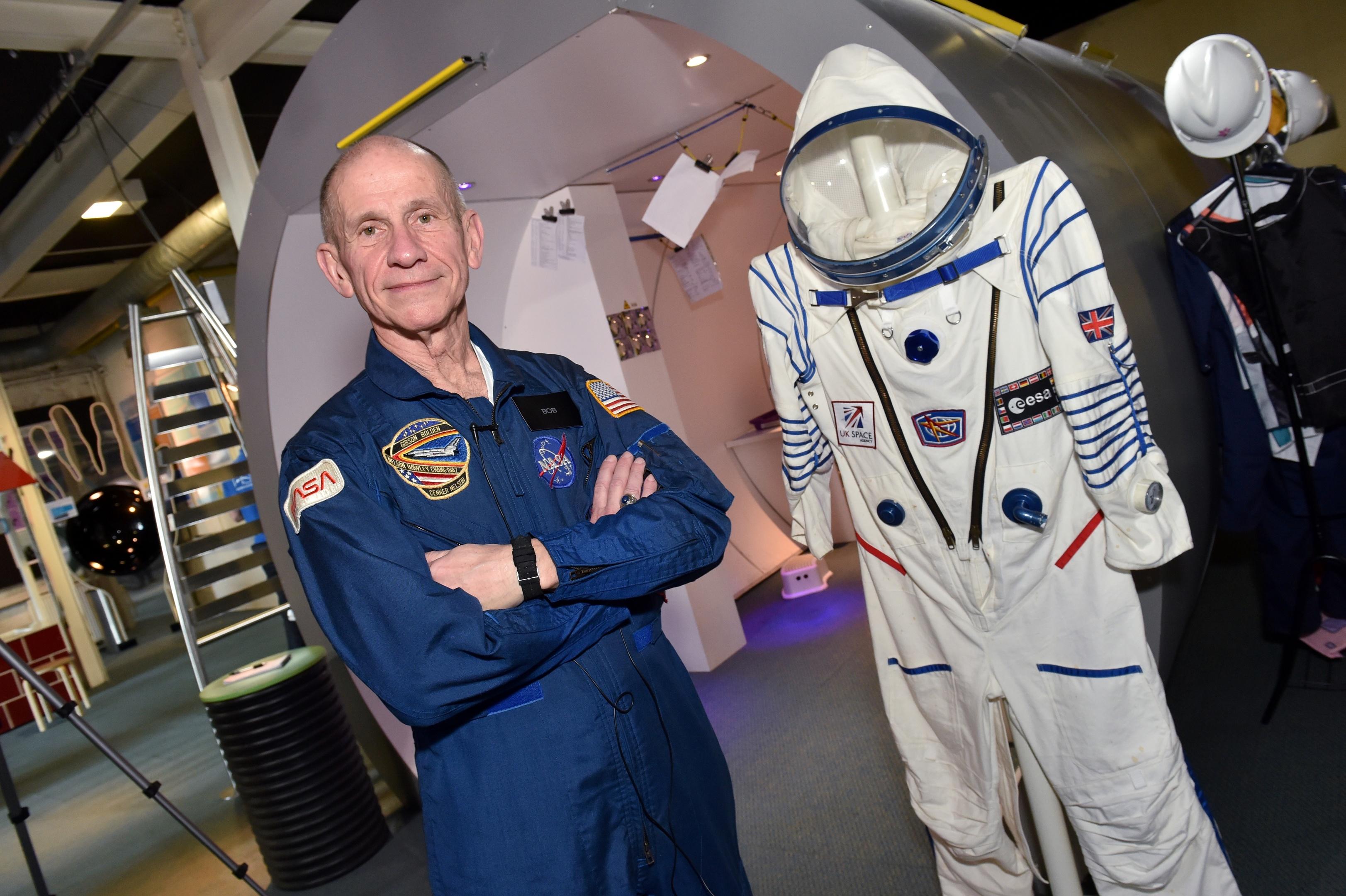 Astronaut STEM event held at Aberdeen Science Centre. Retired astronaut Bob Cenker.