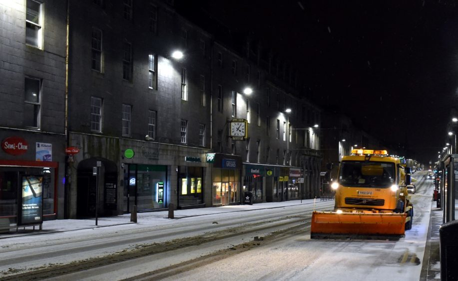 The Beast from the East snow storm arrived in Aberdeen.
