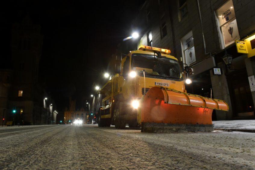The Beast from The Beast from the East snow storm arrived in Aberdeen.