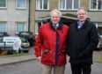 Councillors, Mike Roy, left and John Cox at Durnblythe Care home, Portsoy.  Picture by Jim Irvine