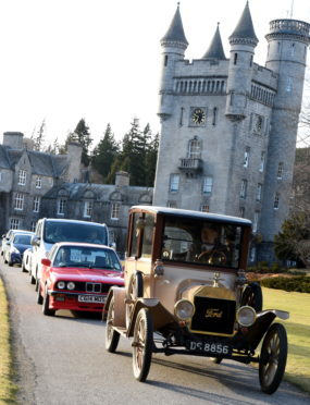 The classic and electric car run on the NE 250 motor tour route.