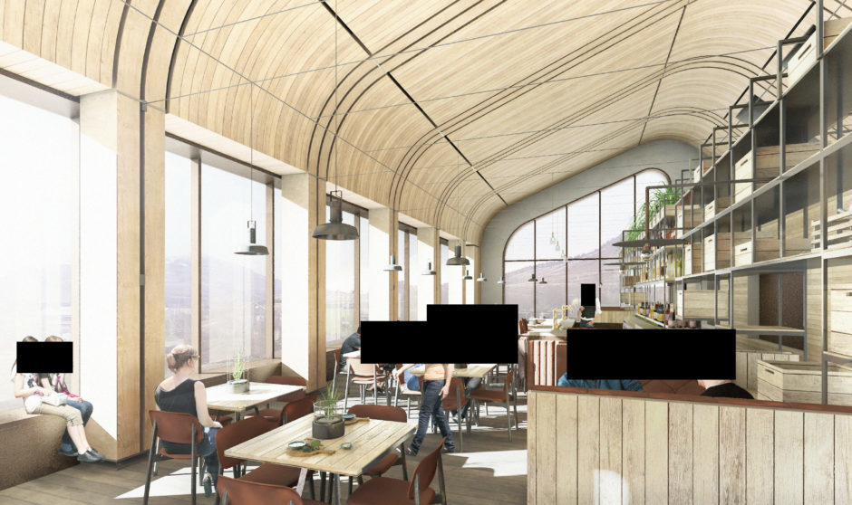 Another angle of the planned restaurant