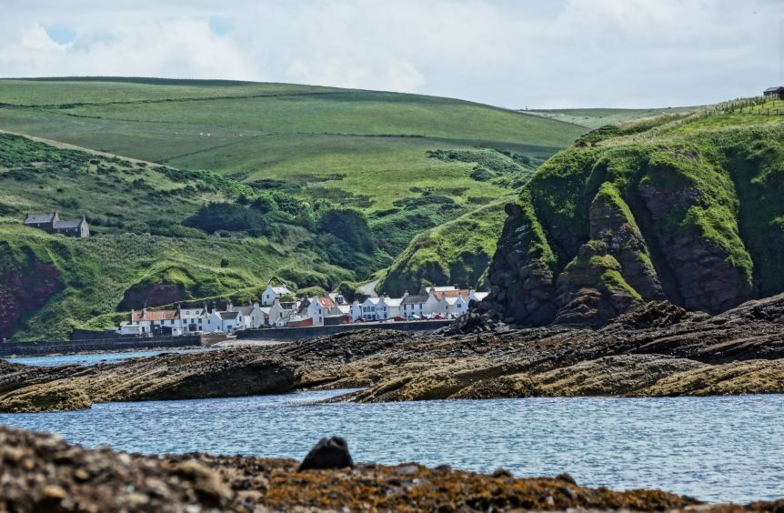 A view of Pennan from the coast