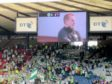 Then Celtic caretaker on the big screen at Hampden Park during the 2-0 defeat to Ross County. Picture by Stan Arnaud.