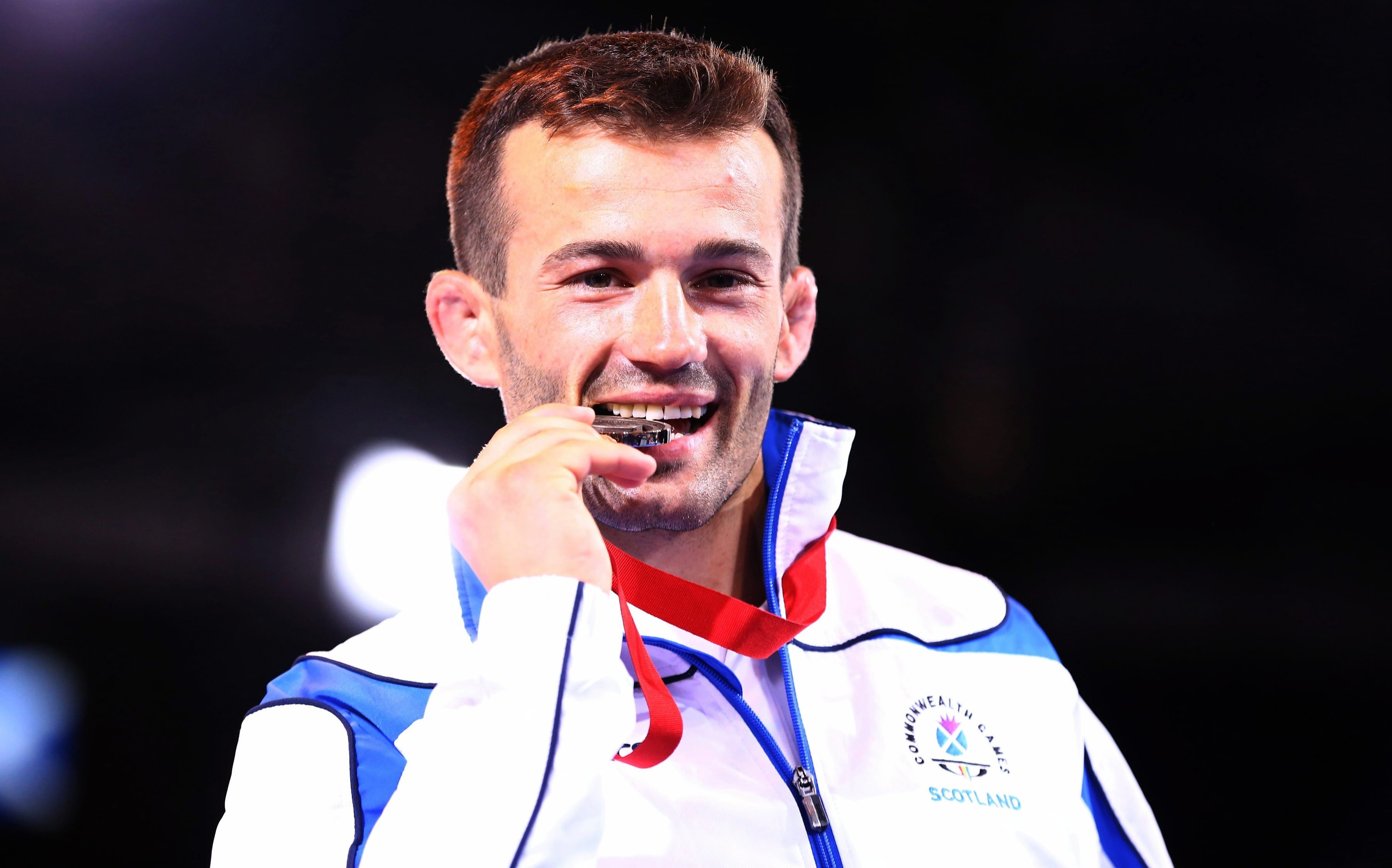 Viorel Etko with his bronze medal won at Glasgow 2014.