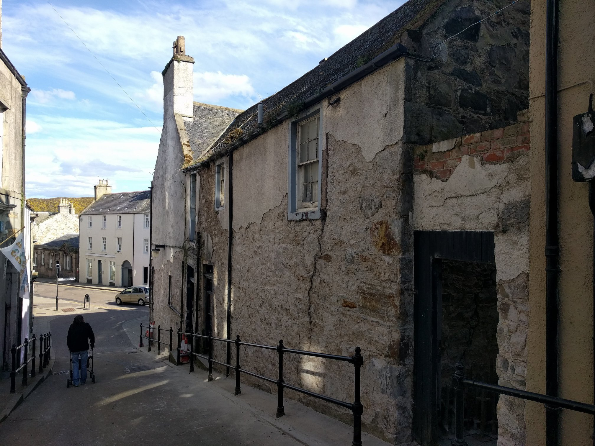 The old Tolbooth Hotel on Low Street in Banff.
