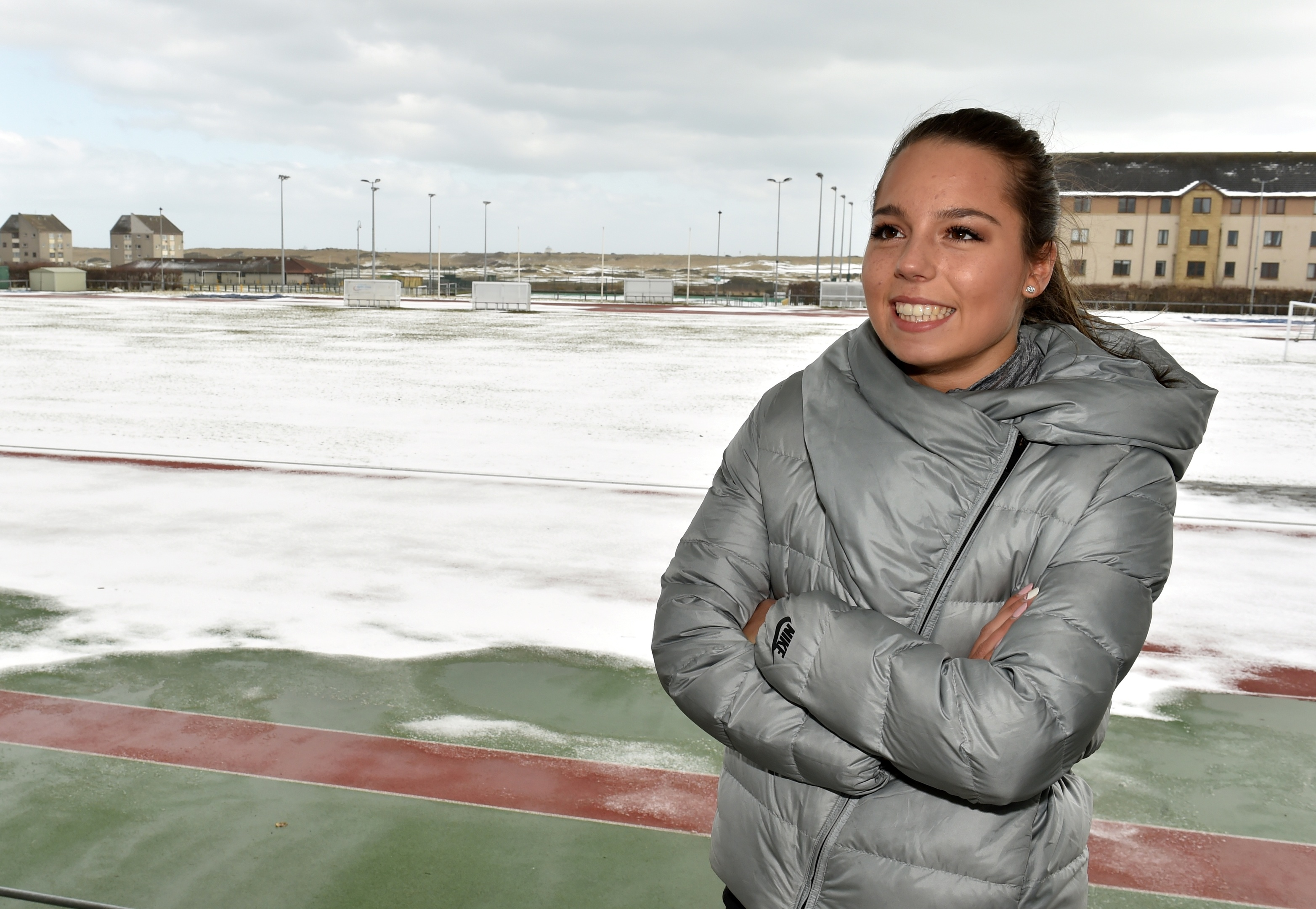 Aberdeen runner Kelsey Stewart has made her name in athletics, despite a family prowess for football.
