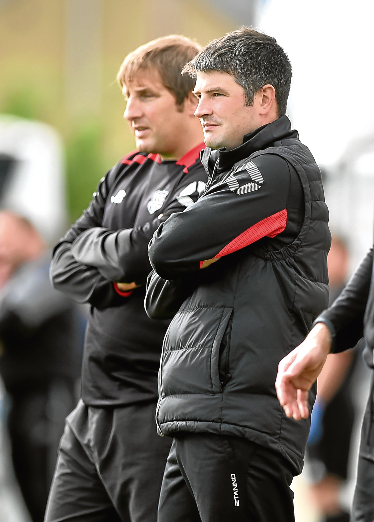 Highland League - Keith FC v Fraserburgh FC (0-3) Stock picture - Fraserburgh Manager Mark Cowie (right) and coach James Duthie. Picture by COLIN RENNIE   August 5, 2017.