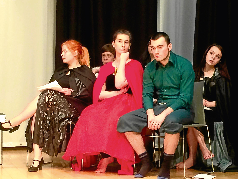 Front: Paulina Tomaszewicz, Katie Wilson and Kieran Hall. Rear: Lewis Hann, Shawna-Leigh MacKinnon and Sophie Bender