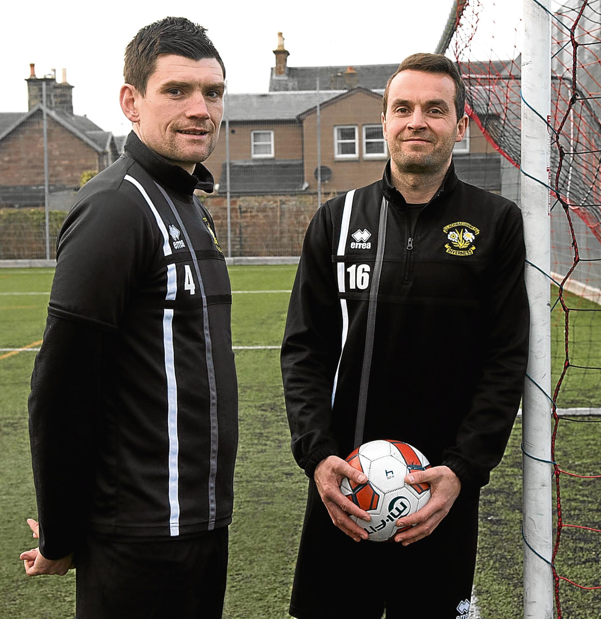 Sean Webb and Martin MacDonald both left Clach this summer