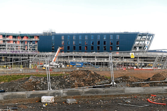 Locator of the new AECC, Bucksburn Aberdeen. Picture by Chris Sumner