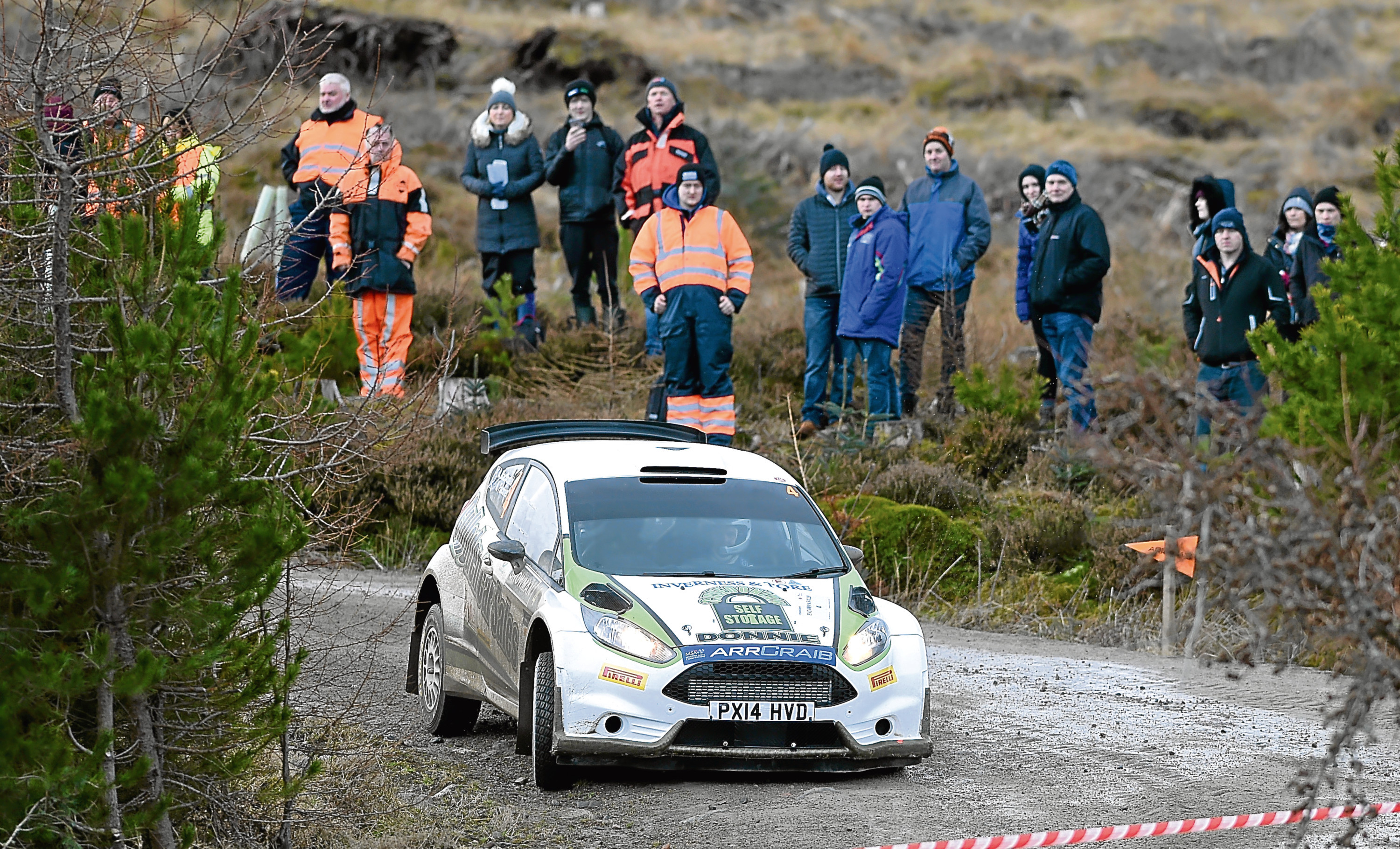 Picture by SANDY McCOOK  10th February '18 Highland Car Club, Snowman Rally.   Stage 1 Meall Mor. Donnie MacDonald and Andrew Falconer , both of Inverness who were third placed in the event.