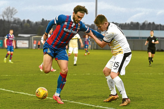 George Oakley opened the scoring for Caley Thistle.