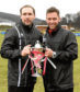 The Breedon Highland League Cup Final 2017-18 Formartine United (red/white) v Fraserburgh (black/white), at MacKessack Park, Rothes, Moray.       Pictured - Formartine's Russell Anderson and Paul Lawson.    Picture by Kami Thomson    31-03-18