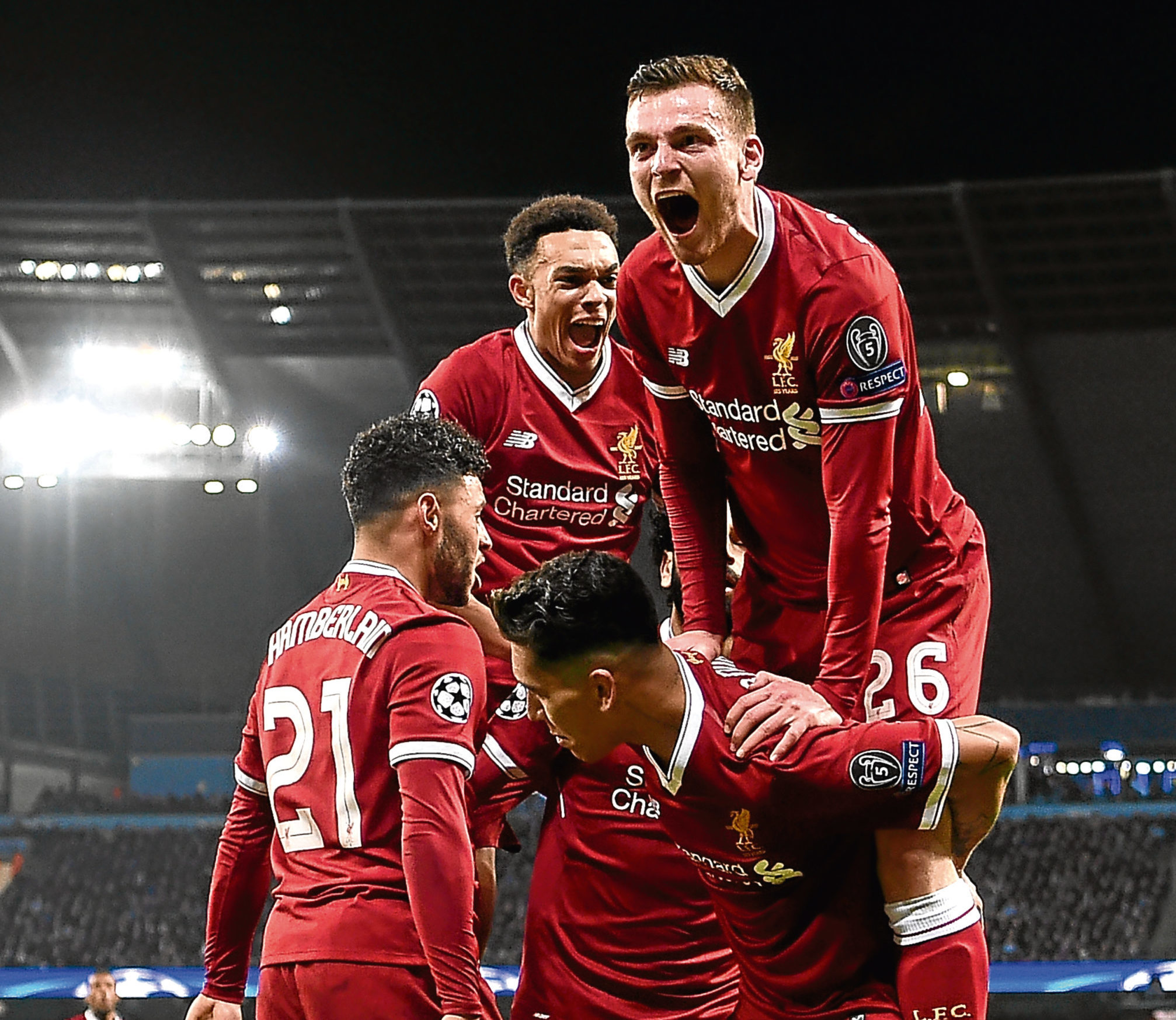 UEFA Champions League Quarter Final Second Leg match between Manchester City and Liverpool at Etihad Stadium on April 10, 2018 in Manchester, England.
