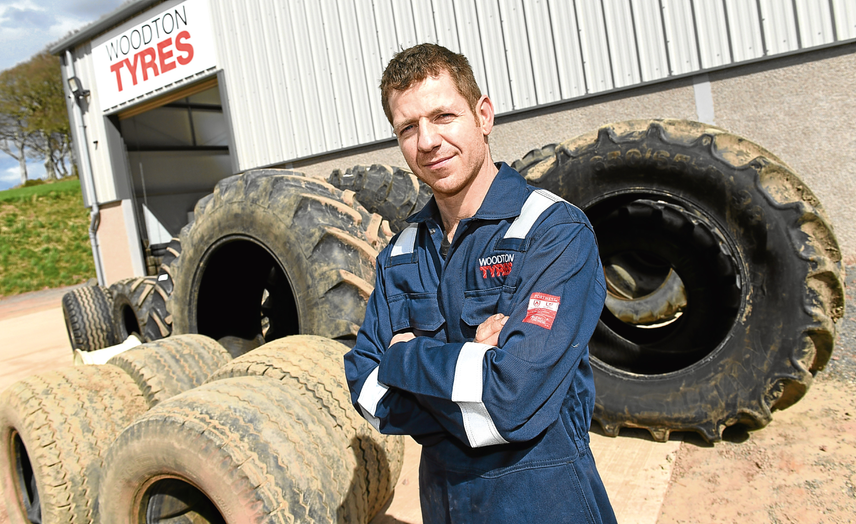 Phil Totton of Woodton Tyres Ltd in Cuminestone