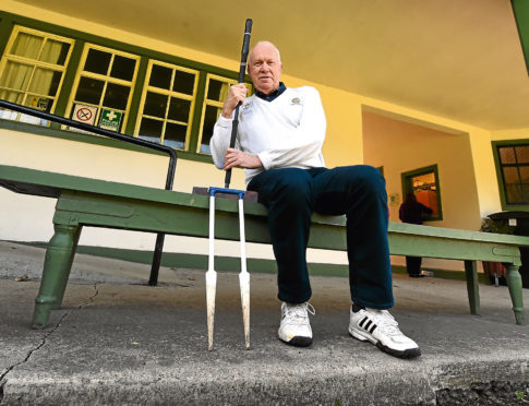 Bill Strachan is captain of the Aberdeen and Crathes croquet club at the Albury Sports centre