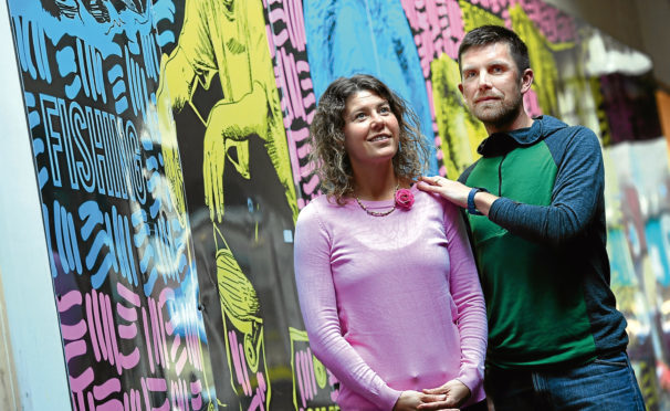 Bella and Neil Walker at the Aberdeen Wellbeing Centre where they run free meditation classes
