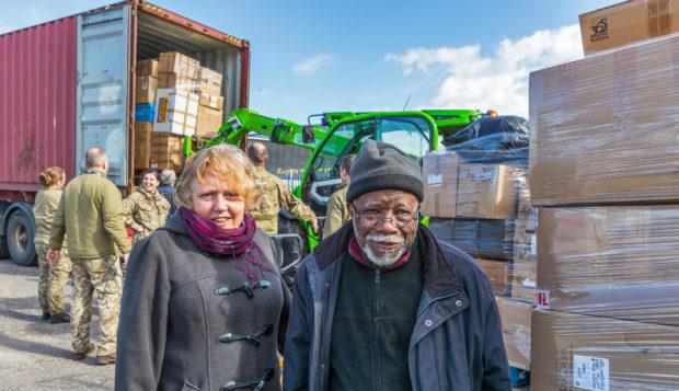 Lansana Bangura and his wife Moira Bangura have organised a huge donation of goods bound for Sierra Leone