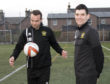 Martin MacDonald (left) with Sean Webb, his Clach team-mate who helped him return from a cruciate ligament injury. Picture: Phil Downie.