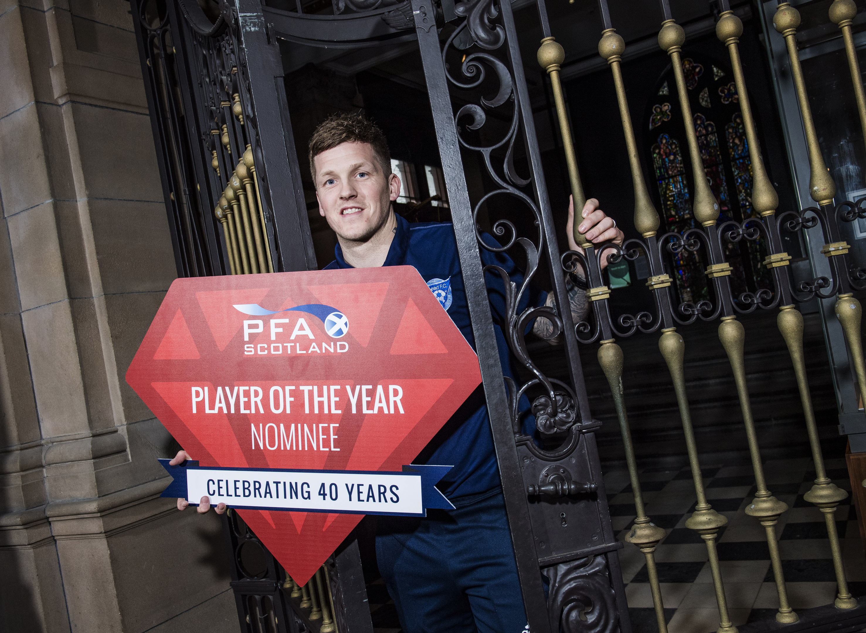 Willie Gibson is nominated for the League 2 player of the year award.