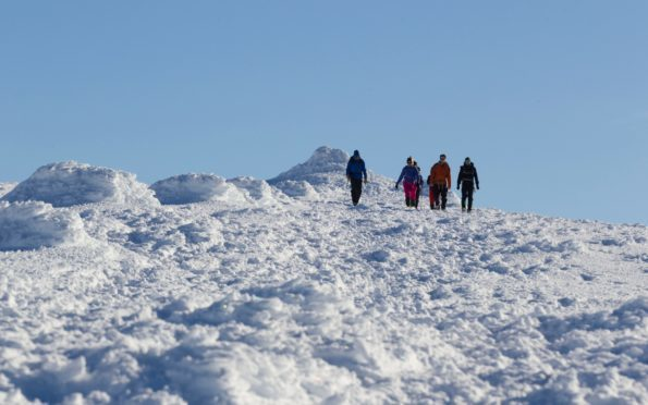 File image from the summit of the Cairngorms.
