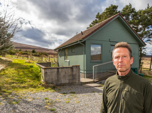 Joerg Bondzio outside his Holiday home within his Sporting Scotland estate at Corglass Lodge, Ballindalloch.