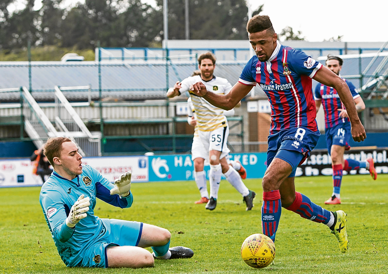 Nathan Austin scored twice for Caley Thistle.