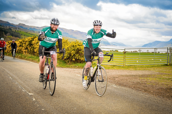 Macmillan riders enjoying the scenery at Dores