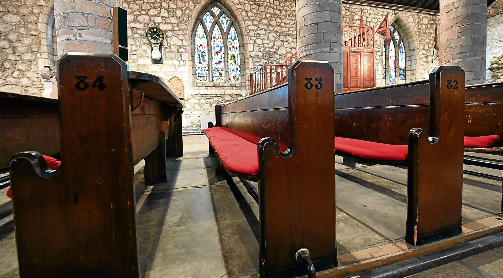 The pews at St Machar Cathedral date from 1867. Photograph by Kami Thomson