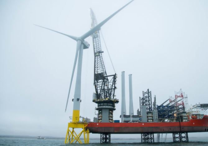 Aberdeen Offshore Wind Farm first turbine installation.