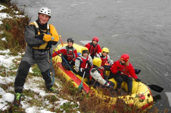 Outdoor eucation coordinator Jonathan Kitching at a white-water rafting event.
