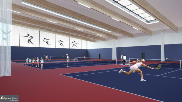 An artist impression of the Garioch Sports Centre.