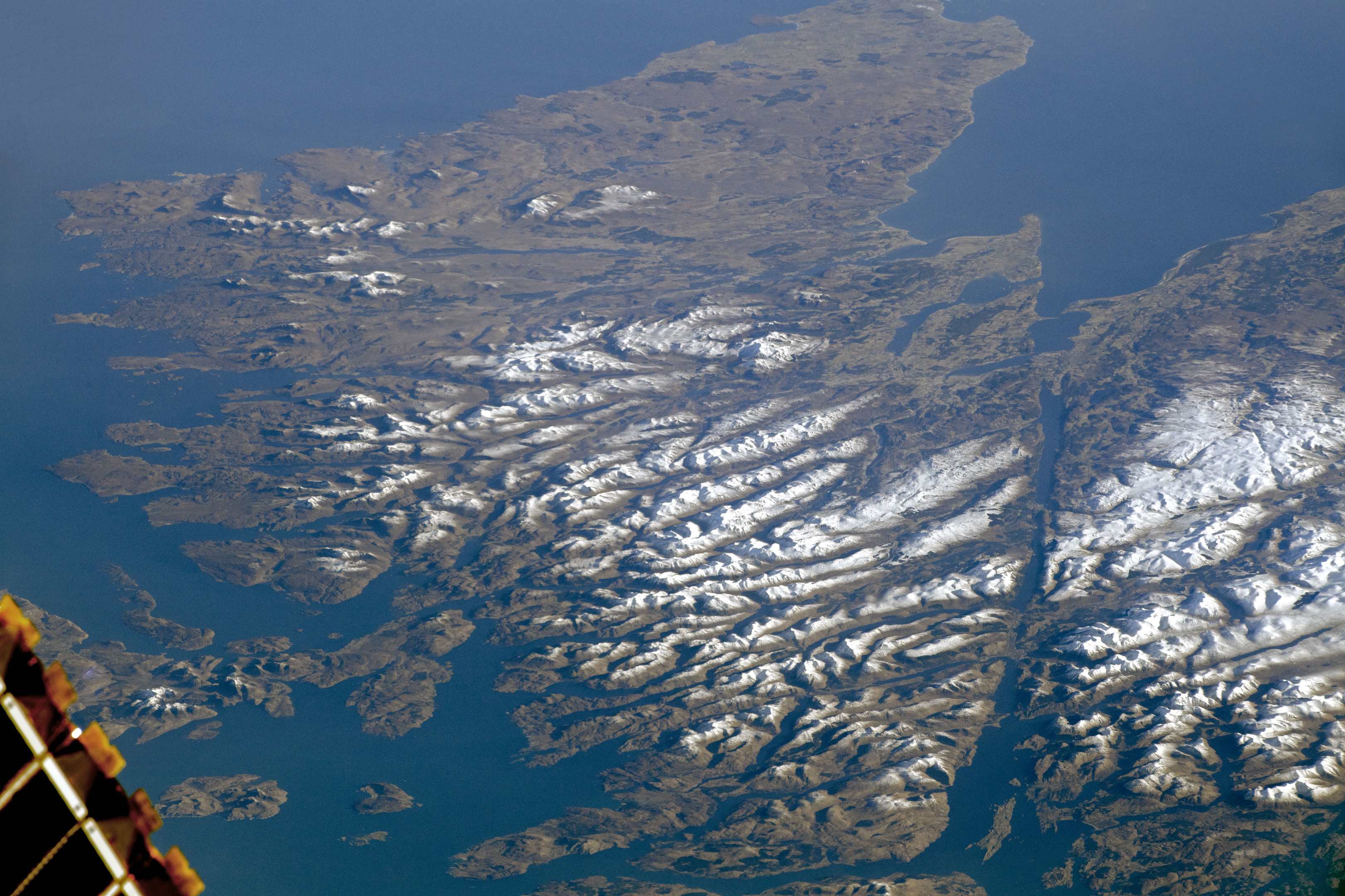 A stunning shot of the Scottish Highlands has been captured by the International Space Station. Credit: International Space Station.