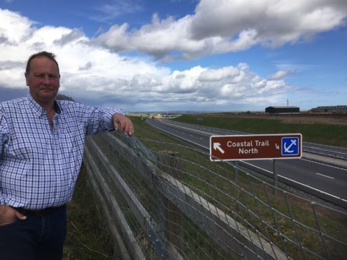 "Businessman James Duthie has been angered by the ""lack of joined up thinking"" as new Coastal Route signage bypasses Balmedie"