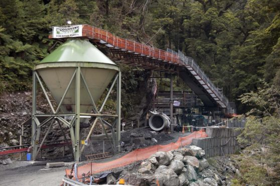 The entrance to the Pike River coal mine is seen in Greymouth, New Zealand, Nov. 21, 2010.