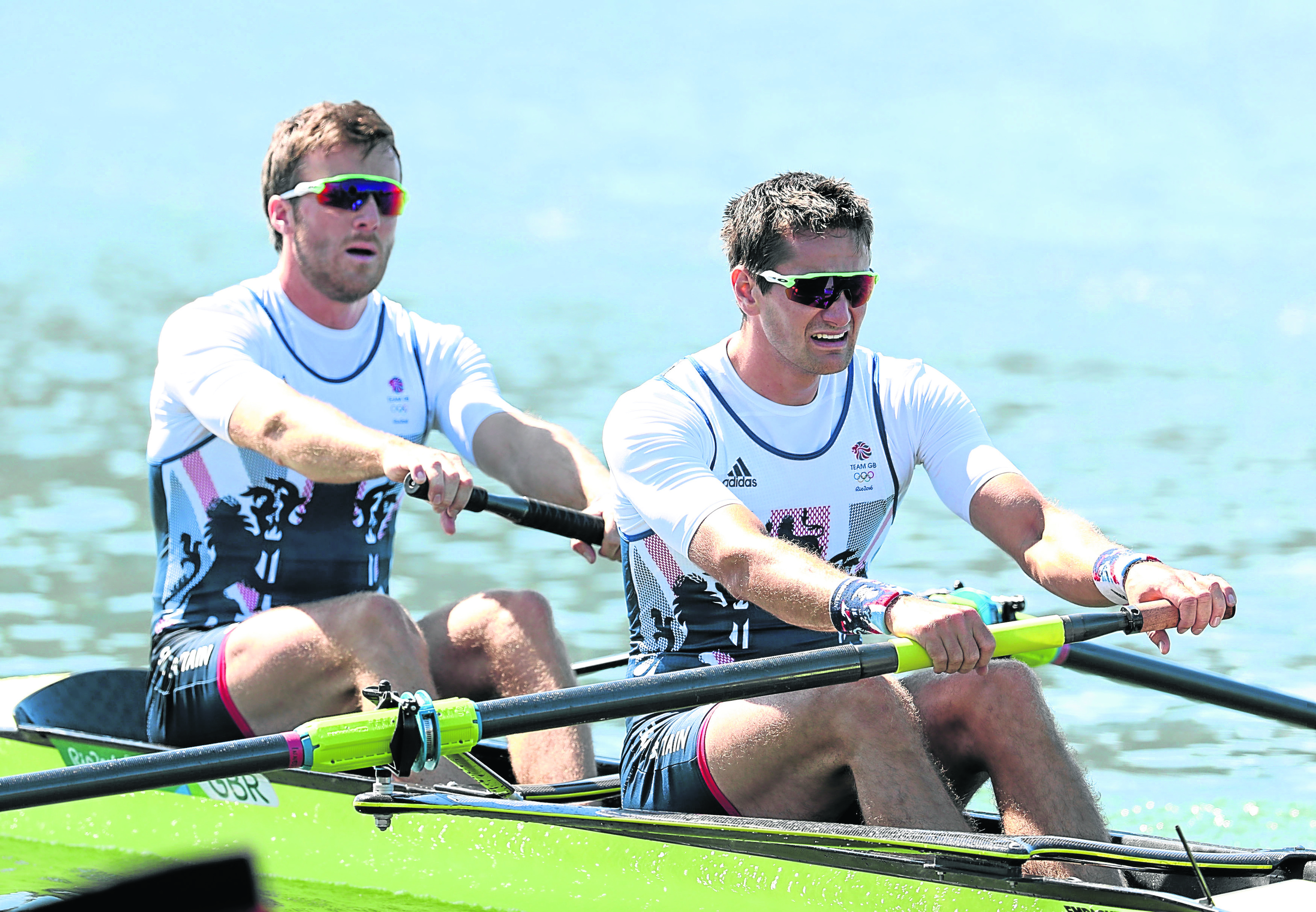 Great Britain's Stewart Innes and Alan Sinclair during the Men's Pairs Final A, in the Rio Olympics Games.