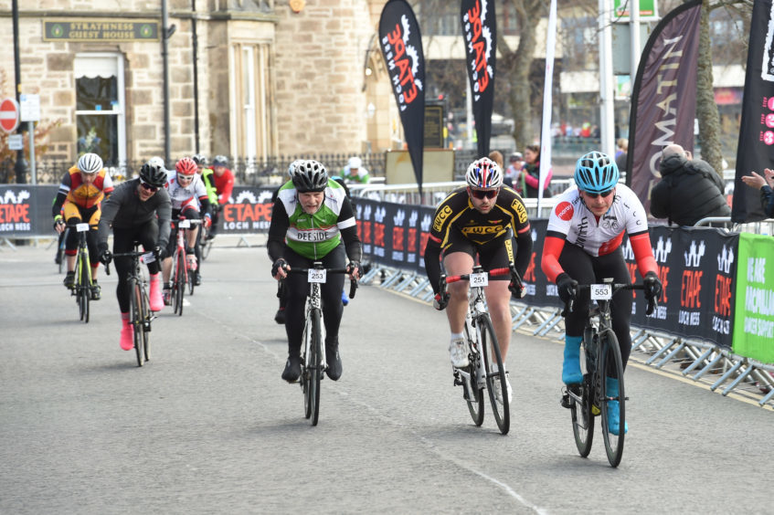 Pictures show riders and medal winners from the 2018 Etape bicycle race in Inverness.
