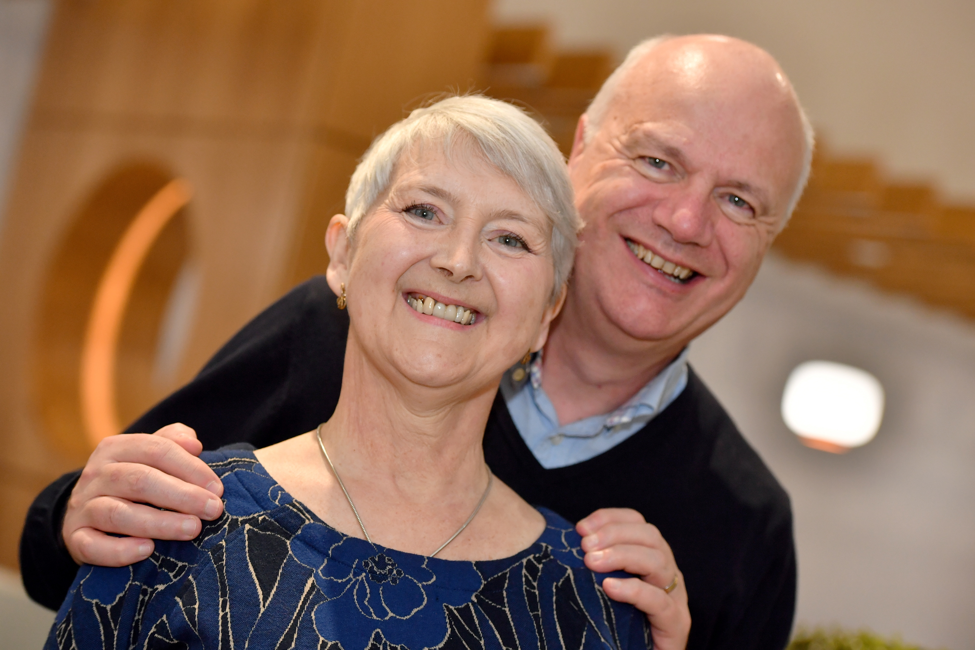 Dr Margaret Crighton with her husband Brian