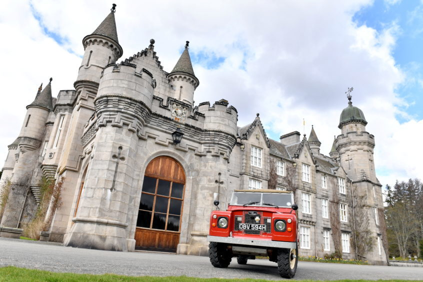 Anyhony Hartley's 1969 Land Rover Series IIA at the castle.
