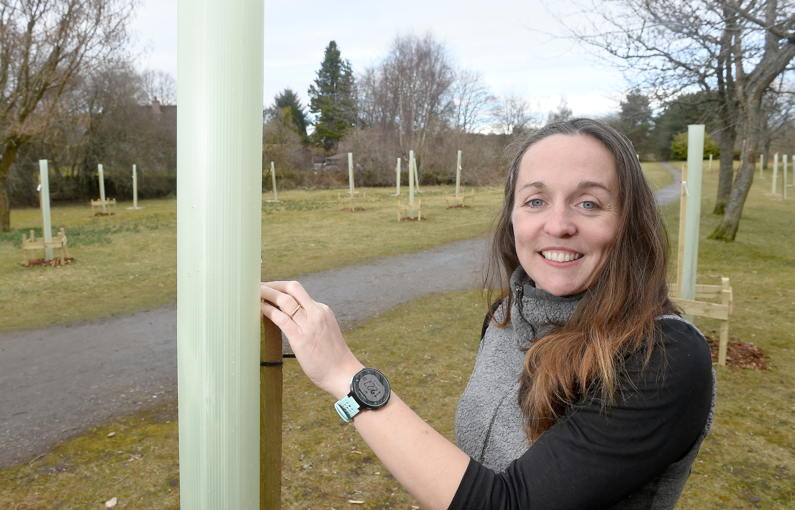 Emma Whitham, the Founding Director of Moo Food, owners of the community orchard in Muir of Ord.