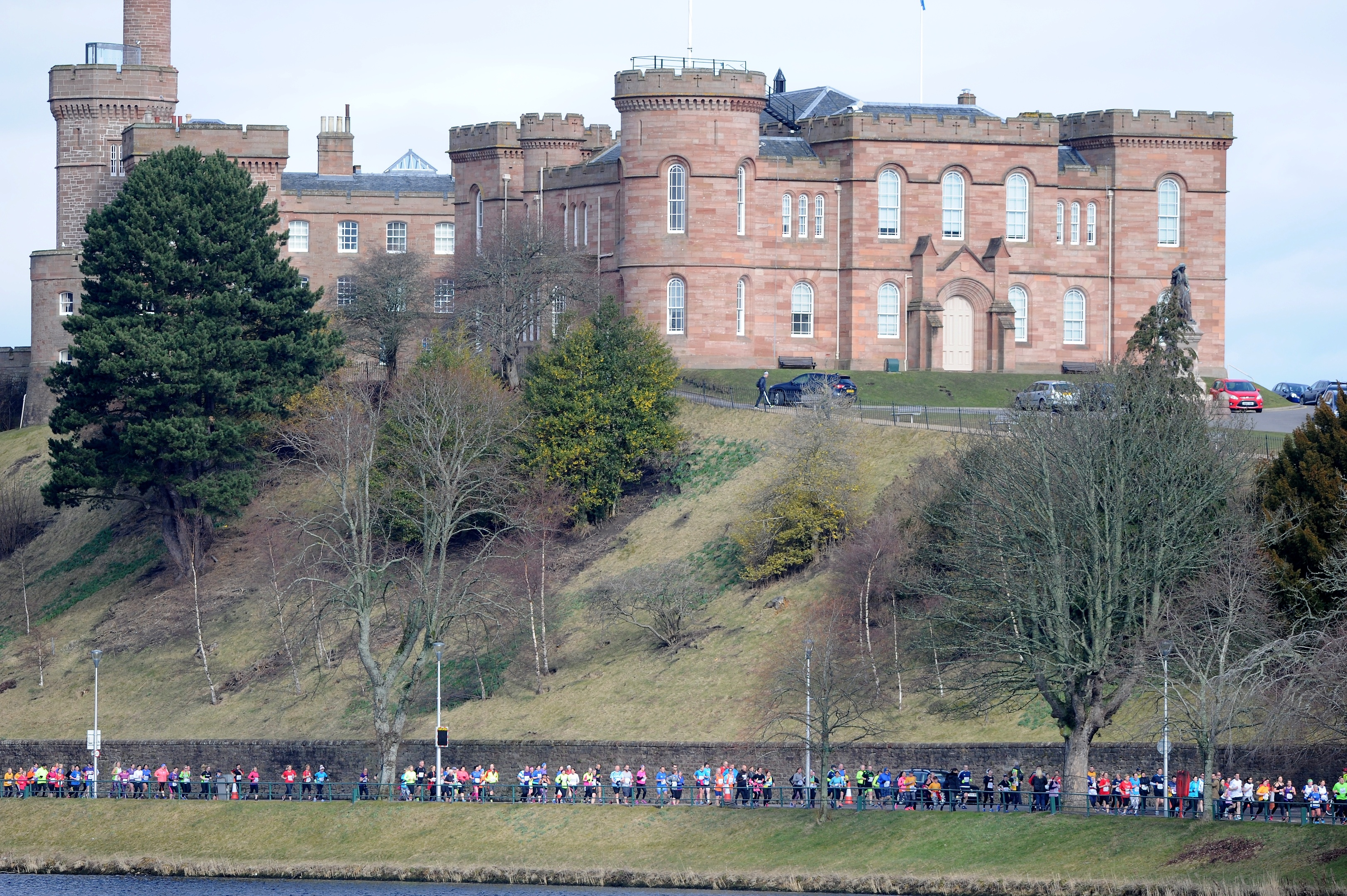 Inverness Castle along the River Ness.